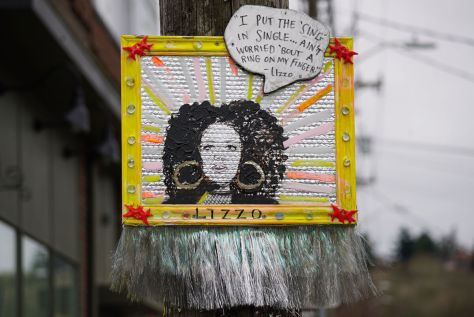 Lizzo's portrait is located on S. Hudson Street in Columbia City.