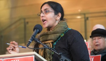 Featured Image: On Monday, the Seattle City Council passed a bill sponsored by Kshama Sawant that entitles residential tenants facing eviction to an attorney at no cost. Photo of Kshama Sawant via Seattle City Council Flickr under a Creative Commons license (CC BY 2.0).