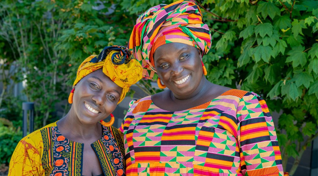 Photo of Adama Jammeh and Oumie Sallah, co-owners of Afella Jollof Catering.