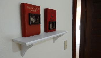 Altered books at Wa Na Wari