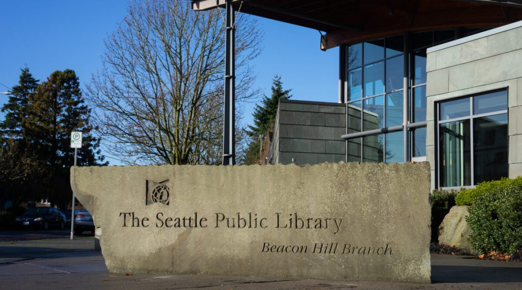 Featured Image: The Beacon Hill branch of Seattle Public Library is one of three branches that will reopen for limited in-person services beginning on Tuesday, April 27. Photo by Chloe Collyer.