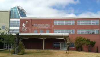 Photo of exterior of Seattle Public Schools John Stanford Center administration building.