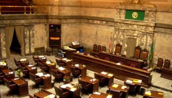 Interior of Washington State Senate chambers