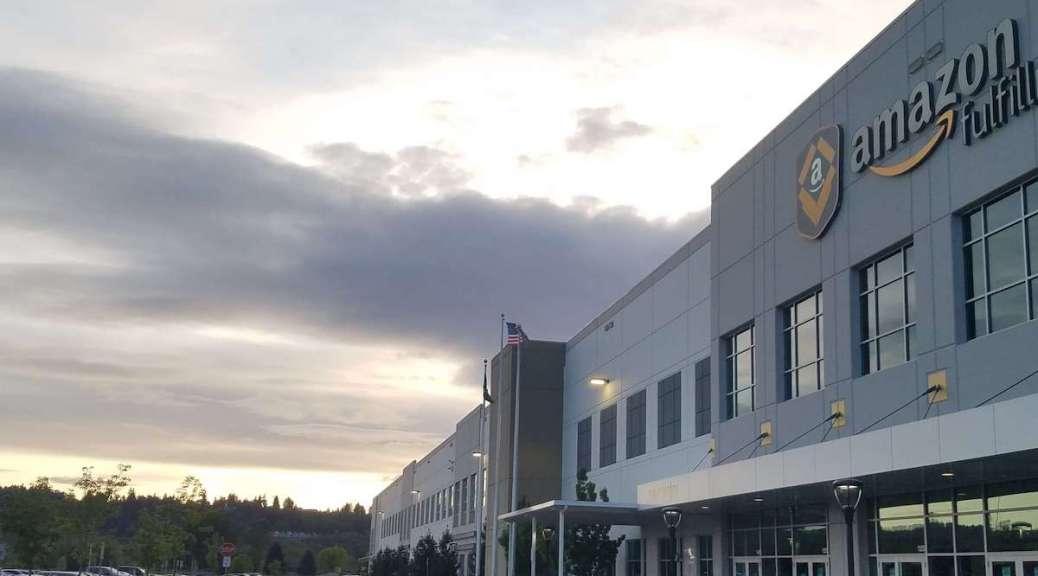 Featured image: An Amazon fulfillment center in Kent, WA (Photo: Ari McKenna)