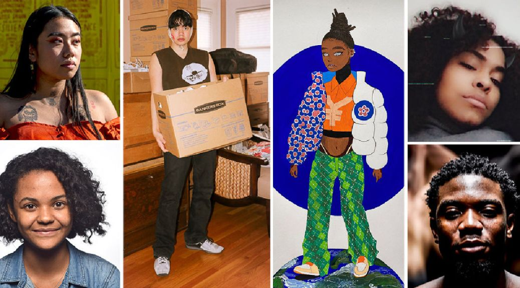 A collage of photos depicting the six BIPOC recipients of 4Culture's 2021 Arc Artist Fellowship