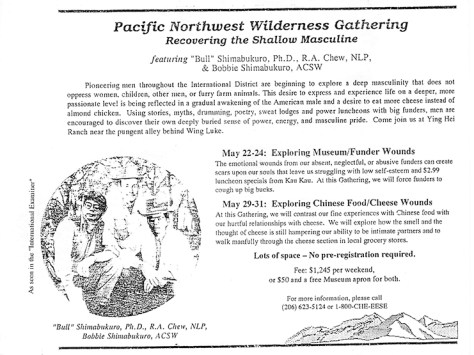 "The edited ""Pacific Northwest Wilderness Gathering"" flyer, with a makeover."