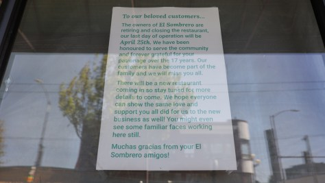 A note to the community from the Rodriguez family about closing up after 17 years.