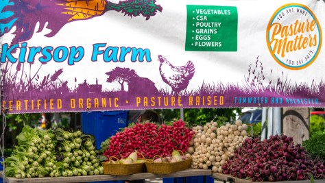 Kirsop Farm's offerings of fresh vegetables at the Columbia City Farmers Market.