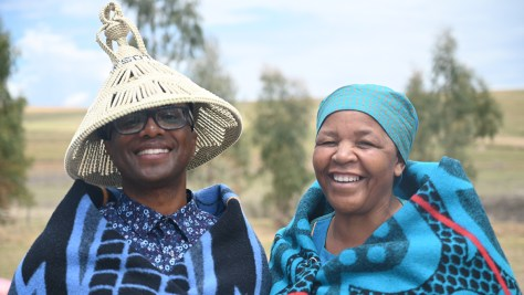 Tyrone Brown (left) and his first host mother Mme' Madillo Kuape (right) in Lesotho, Africa.