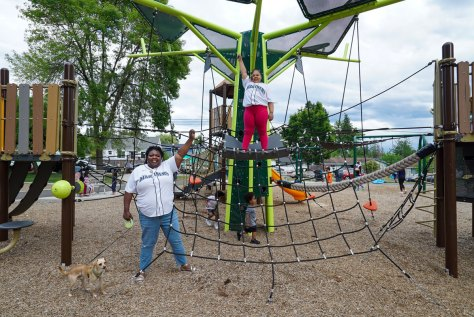Ann Okwuwolu and her daughter at Jefferson Park in Seattle, WA