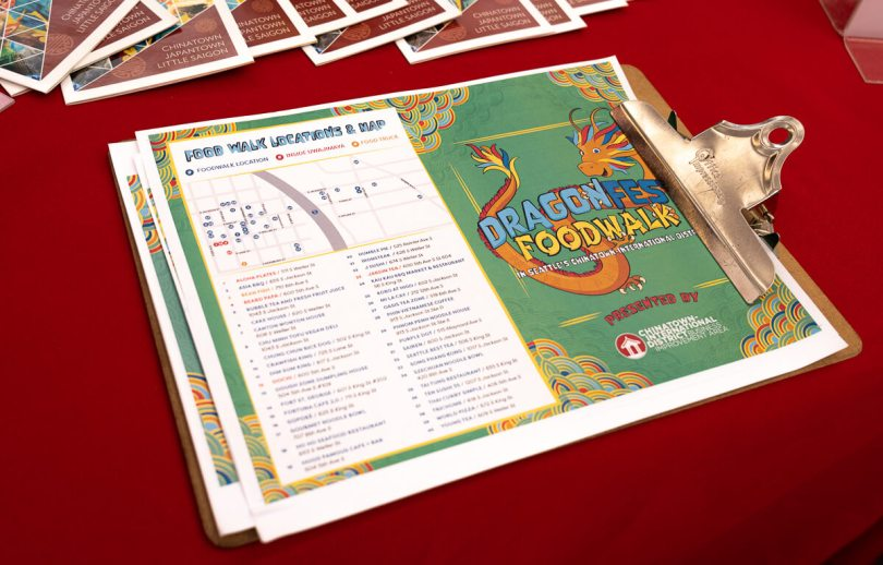 Photo of the 2021 Dragon Fest Food Walk map.