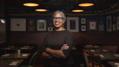 Photo of Donna Moodie, owner of Seattle restaurant Marjorie