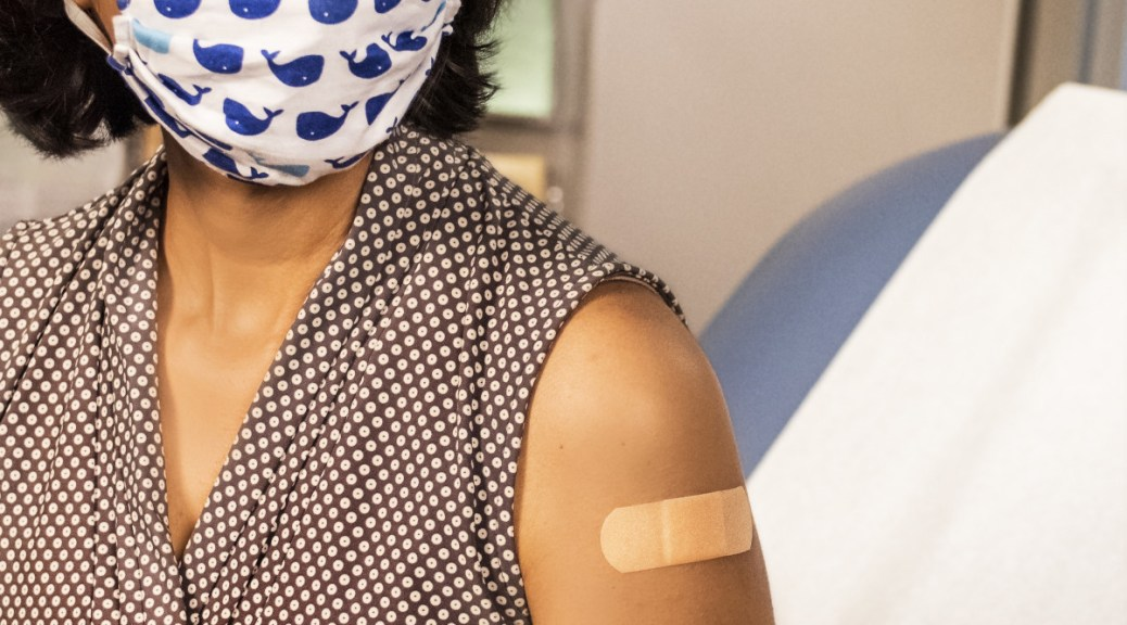 Photo of vaccinated patient's arm.