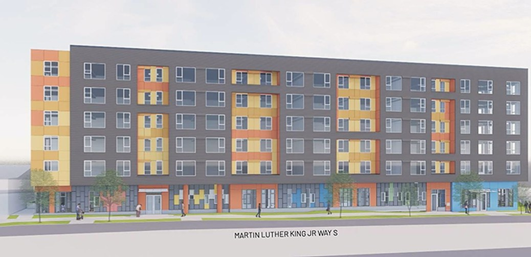 Renderings of the MLK Mixed-Use Affordable Housing project.