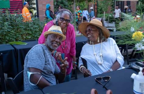 Friends Bernie Hall, Harriet Walden and W. Joye Hardiman, attend the Second Annual Reunion on Union.