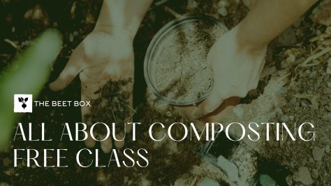"""Facebook event flyer for the """"All About Composting"""" class"""