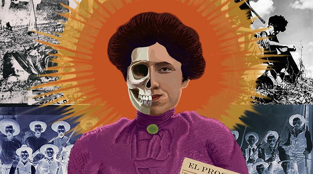 Illustrational portrait depicting Jovita Idar, a Mexican American journalist and activist.