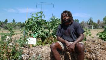 Marcus Henderson started Black Star Farms at Cal Anderson Park during the Capitol Hill Organized Protest (CHOP) in 2020. A year later, a community garden Black Star Farms created in Jimi Henderson Park has been threatened with removal by Seattle's Department of Parks and Recreation. Photo by Andrew Engelson.