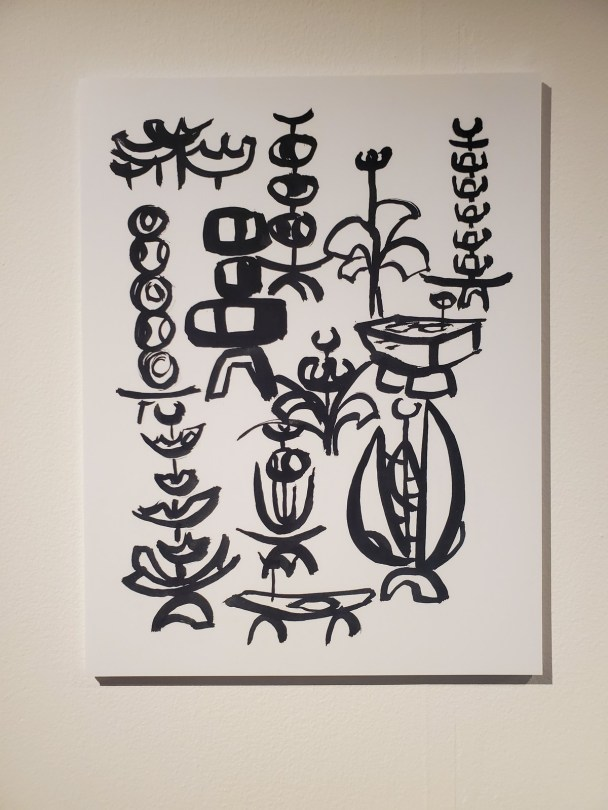 George Tsutakawa would often sketch his designs with the Japanese style of sumi painting.