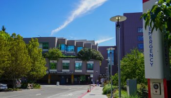 Photo depicting the exterior of the Seattle Children's Hospital at their main campus.