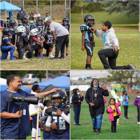 Photo collage depicting the coaches of the CD Panthers.