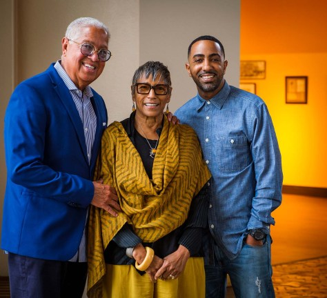 Photo depicting from left to right Bernard, Shirley, and Khalil Kinsey.