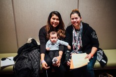 Ana Mendoza (right) with her daughter Evelyn Mozo and grandson Sebastian [Photo Credit: Julia-Grace Sanders]