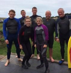 Body Boarding at Porthcothan Bay