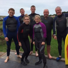 Body Boarding at Porthcothan Bay