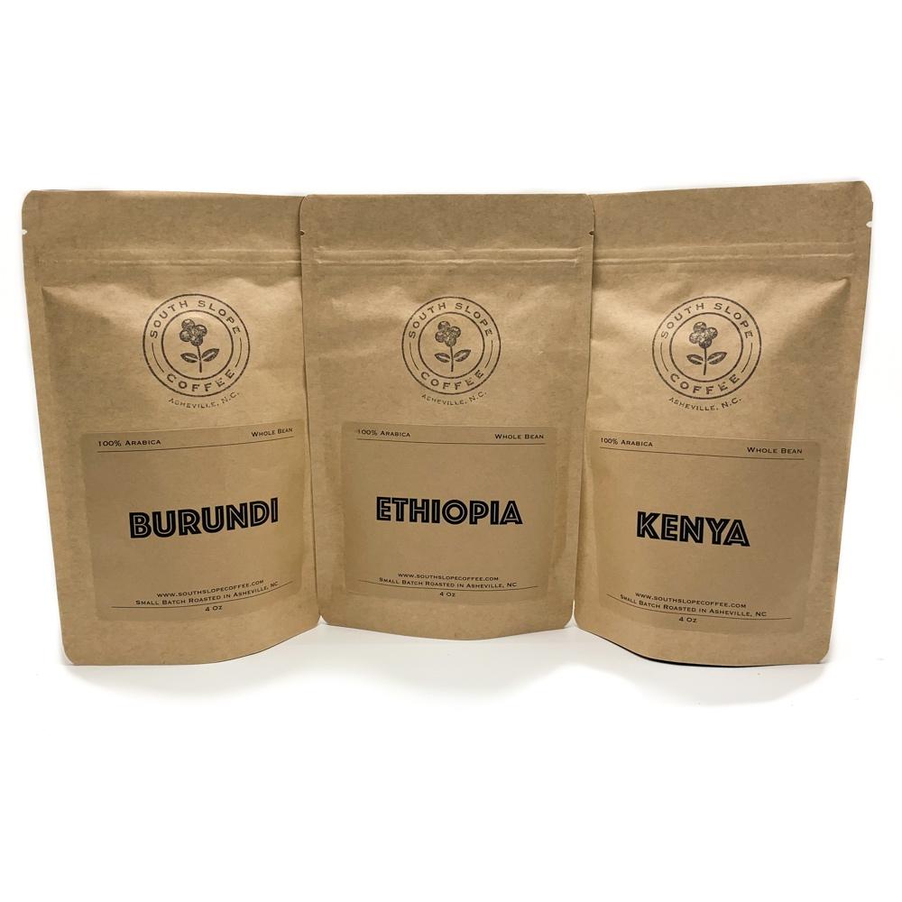 Africa Explorer Pack – Kenya Ethiopia & Burundi – Three 4 Oz Bags