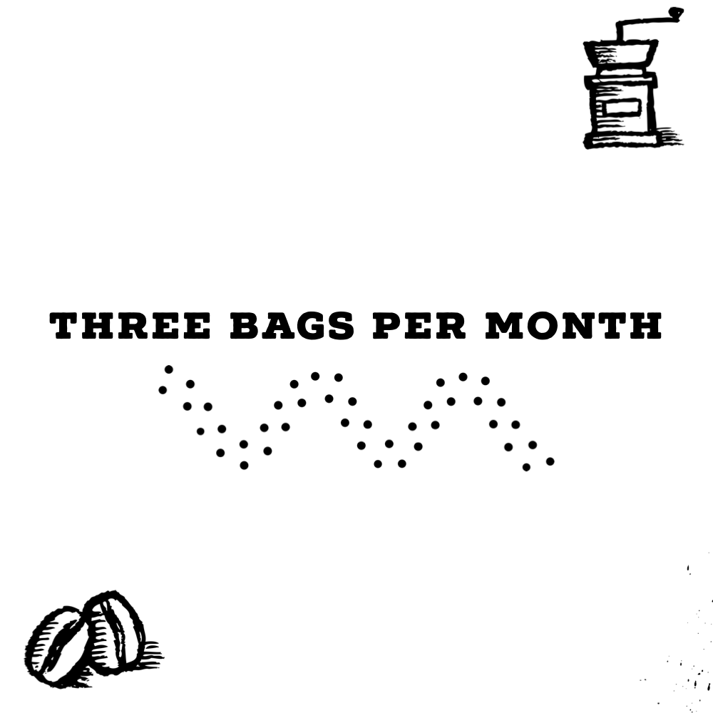 Three 12 Oz Bags Per Month