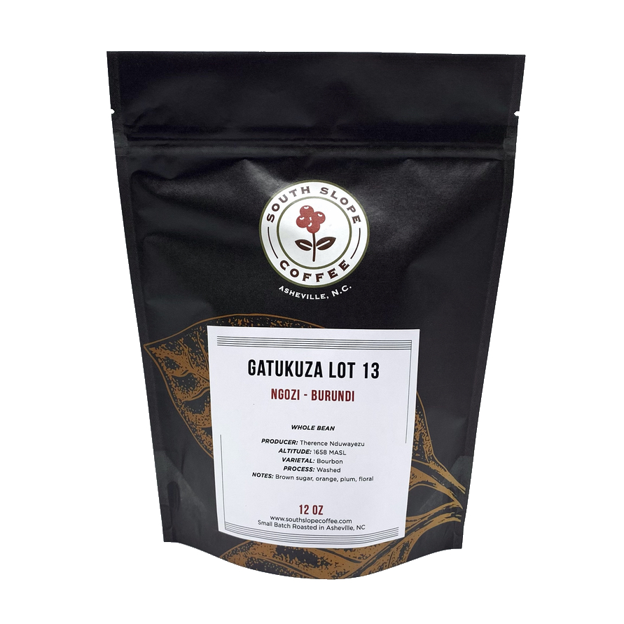 12 ounce bag of roasted coffee gatakuza from ngoni burundi roasted by south slope coffee in asheville north carolina