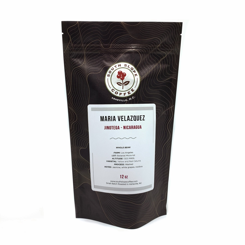 12 Punce Bag of Maria Velazquez Coffee Roasted by South Slope Coffee