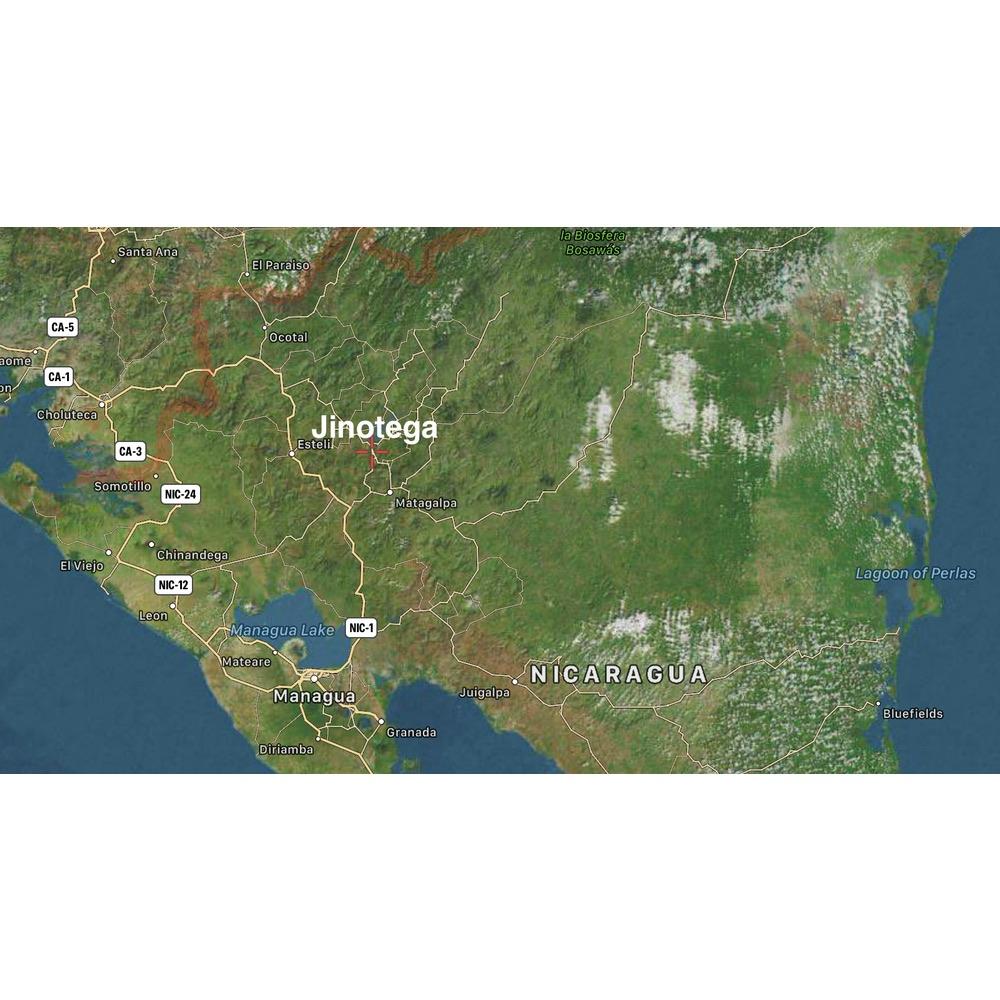 Map of location of Maria Velazquez farm in Jinotega Nicaragua