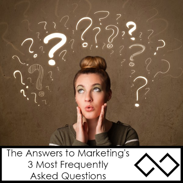 Answers to Marketing's 3 Most Frequently Asked Questions