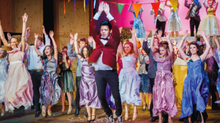 Dancers on stage at Footloose, the Musical at SVCT