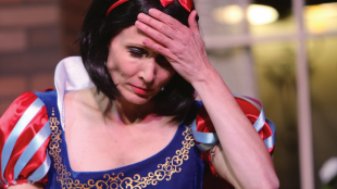 Denee Lewis performs in snow white costume in SVCT's show 'Vanya and Sonia and Masha and Spike'