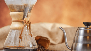 RETRO BREW Invented in 1941, Chemex was designed to make Dad's morning coffee easy.