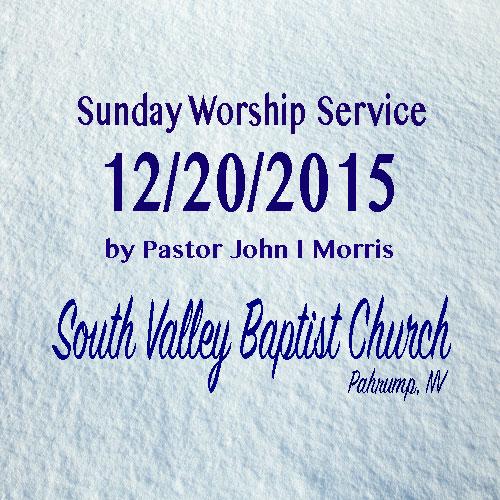 Dec 20 2015 Sermon