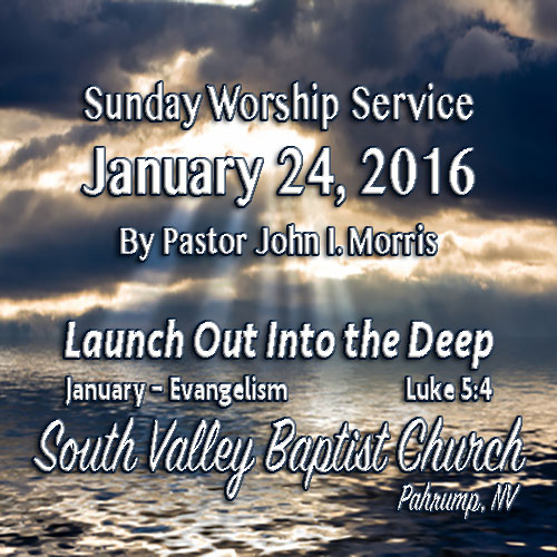 January 24 2016 Sermon