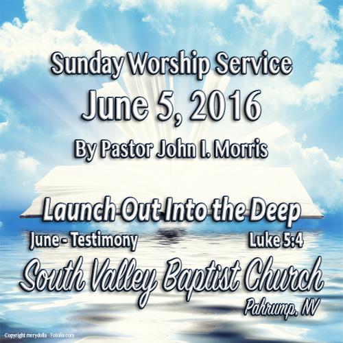 June 5 2016 Sermon