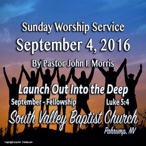 Sept 4 2016 Sermon