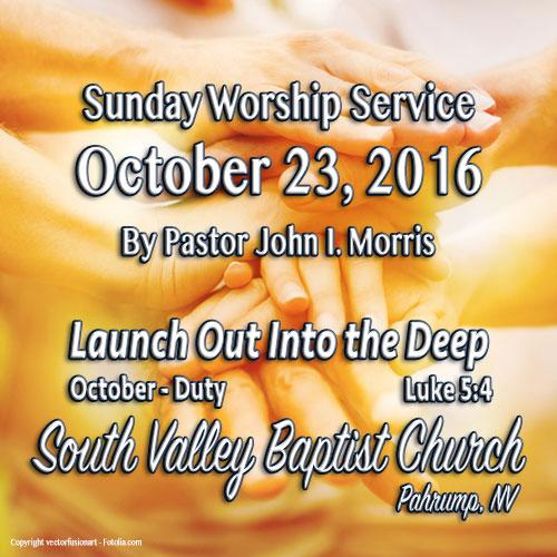 Oct 23 2016 Sermon