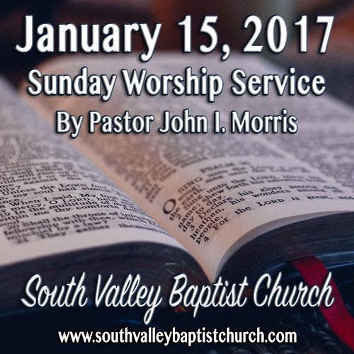 Sermon Jan 15 2017