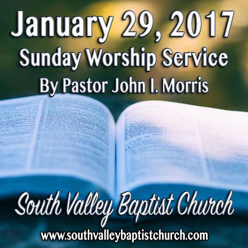 Sermon Jan 29 2017