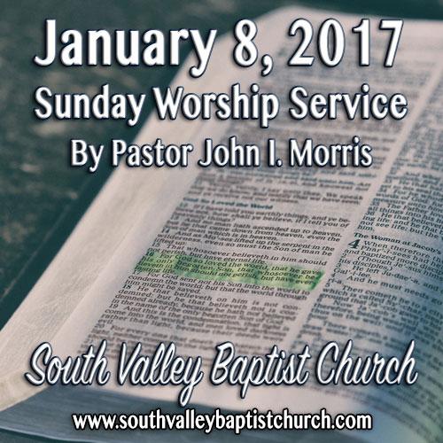 Sermon Jan 8 2017