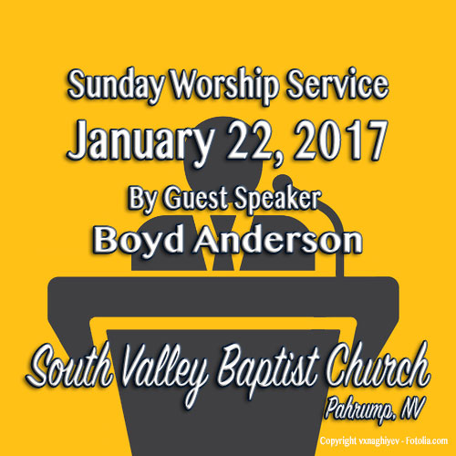 Sermon Jan 22 2017 8:30