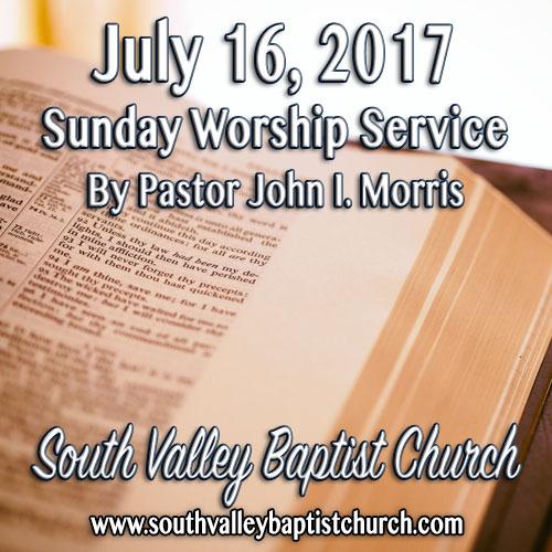 Sermon July 16 2017