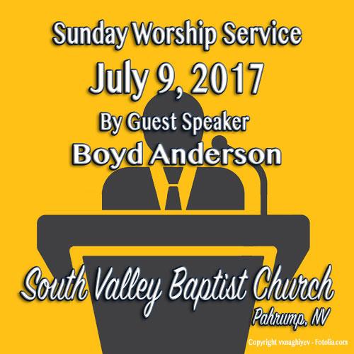 Sermon July 9 2017 8:30 Service