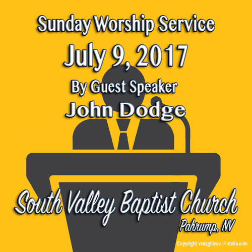 Sermon July 9 2017 10:30 Service